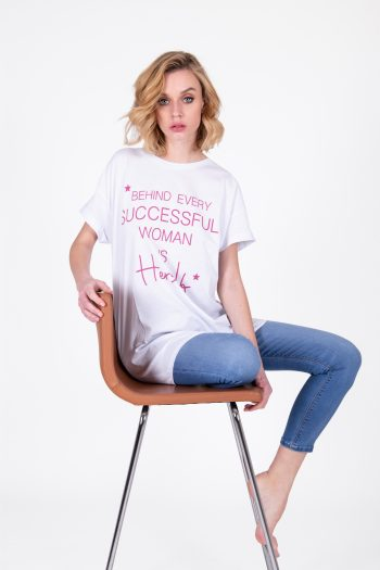 T-SHIRT OVERSIZE CON STAMPA