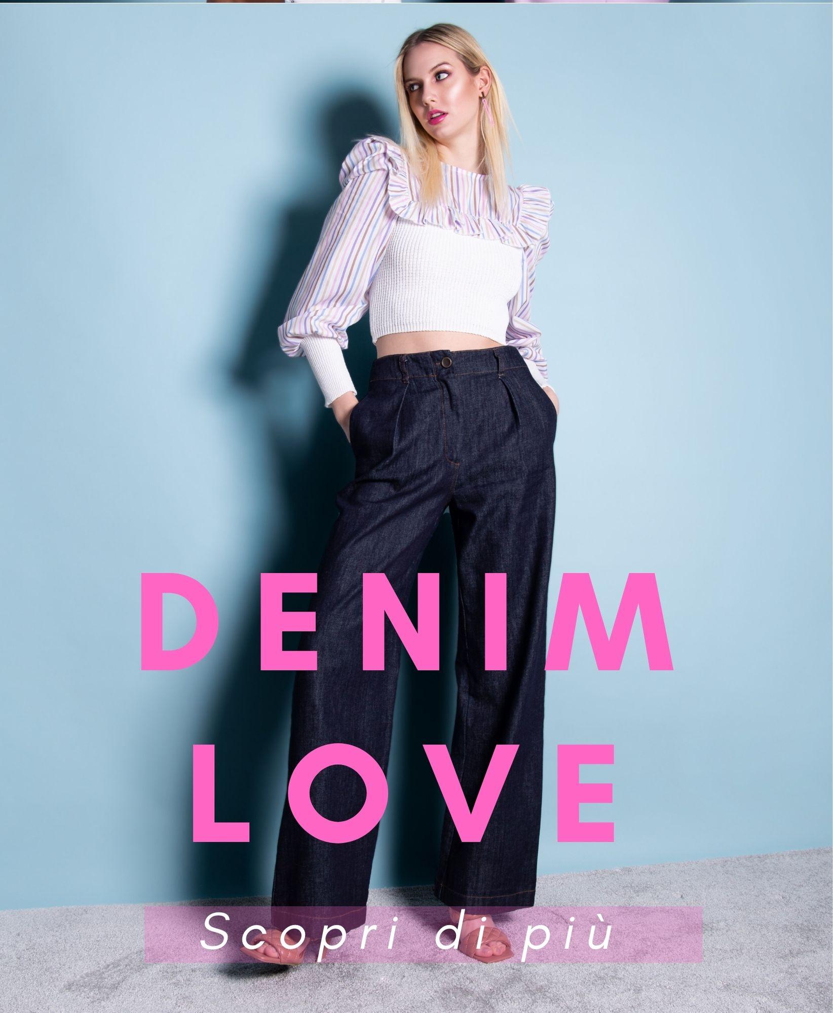 Denim _Jeans_abbigliamento donna Made in Italy