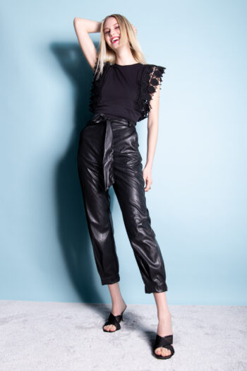 P1055810-00001_Pantaloni in ecopelle Futur3 Fashion_Made in italy